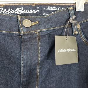 NWT Eddie Bauer Denim Jeans Slightly Curvy Bootcut